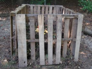 First compost bin from 2009. Built with 5 pallets